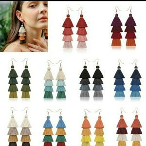 💝Beautiful Tassel silky earrings 🛍